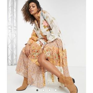 Free People Days of Ditzies Maxi Duster Dress